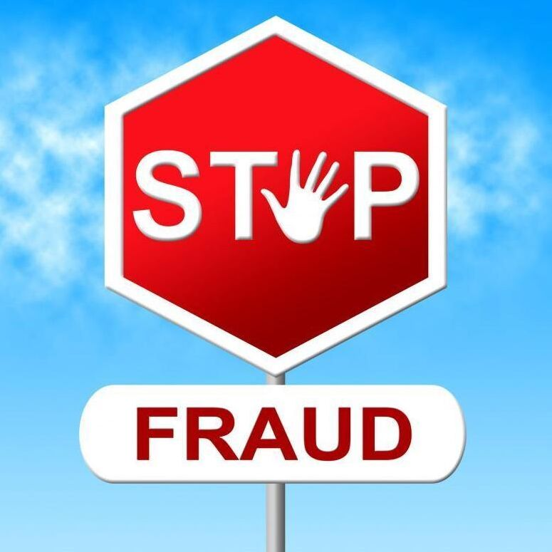 Stop Fraud Indicates Warning Sign And Con